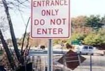 Signs to make you chuckle!