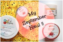 Blog Love / My First Beauty Haul in September !!