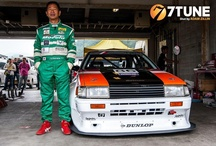"PASSION, HOBBY / [ Yashio Factory   Kazuyoshi Okamura (aka Oka-chan)]  [RE Amemiya  Isami Amemiya]  [Keiichi Tsuchiya  ""Drift King"" ( aka Dorikin )] [RAUH-Welt BEGRIFF  Nakai-San  ] [Kazuhiko Nagata  (""Smoky"")] [Susumu Koyama Vice President, Jun Auto]"