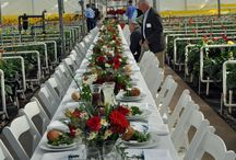 Farm to Table & Field to Vase / Farm to Table & Field to Vase means that the food and flowers on the table came directly from a local farms. Sometimes this mean the table is at the farm and cooks or chefs prepare and serve the food at the farm.
