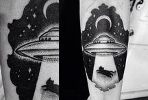 Ufo Dotwork Tattoo