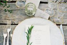 wedding place settings / Bohemian, dreamy, romantic, modern minimalist wedding place settings inspiration for receptions.