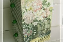 Storage Box for ribbons / #decoupage, #decorations, #handicrafts, #home products, #creative, #hobbies, #ideas, #interior, #restoration, #napkin technique, #gifts,  Size: 26,5 x 16,5 x 10 cm