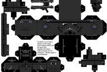 Star Wars paper craft cube figures / printable D.I.Y craft paper cube figures