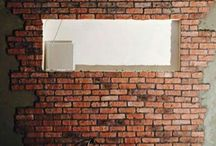 Brick Slips Wall Cladding / Completed project using Brick slips available from Kuci Design