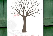 FINGER PRINT TREE / Fingerprint tree, ujjlenyomatfa, wedding decor, Esküvői decor, fa festmény, Ujjlenyomatfa Esküvőre