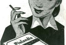 Savukemainokset / Vanhoja tupakka- ja savukemainoksia