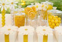 yellow party decor