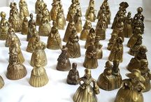 Brass lady tea bells