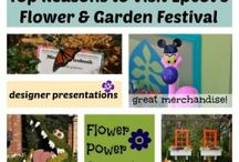 Epcot Flower and Garden Festival / Annual event at Epcot in Walt Disney World.  Enjoy flower displays, topiary displays, food booths, special demonstrations, concerts & special merchandise during this spring event.