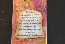 """The Dear One Soul Cards / These are handmade cards made from the quotes from my book, """"The Dear One Letters: A Path to Growing as a Human and Evolving as a Soul."""" Beautiful words of wisdom."""