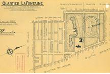 Plans / Plan du quartier et du parc La Fontaine