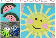 Crafts for Toddlers / The best toddler crafts! Cute and easy ideas for toddlers to make, cute crafts, fine motor skills, inspiration for summer, fall, Halloween, Christmas and all year round.