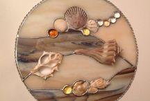 glass and shells