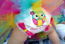 Rainbow owl cake smash inspiration