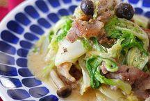 白菜と鶏の味噌マヨ炒め
