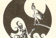 Vintage Girl Surfers