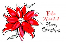 Navidad / This special time of the year needs a special bilingual card for you to send your friends, clients and familia!