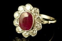 Antique Ruby Rings / Ruby – the name given to red, gem quality corundum is one of the best gemstones for jewellery settings. Rubies may be any shade of red from pinkish to purplish or brownish red, depending upon the chromium and iron content.