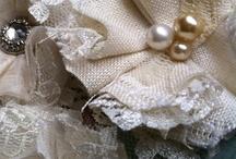 Vintage Linen Bridal Accessories