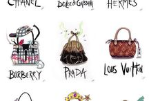 fashion illustration only bags