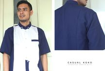casual Koko damaskus blue series  / #Busana #muslim #Pria #Casual #Koko Damaskus Blue Series By #Fadilla Madani  100 % Cotton Europe & Doby Cotton  Size : S M L