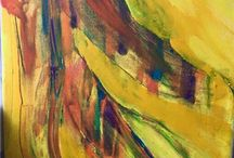 Charity dancing queen in the Sun painted in Stockholm Sweden / Art Painting feelings dance woman and also you can see other things in the painting .