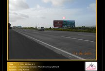 Hoarding at Expressway / To book hoardings contact us on - +91 9890801841 | www.aimadvertising.in