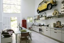 Old stuff in a modern place / Why not hang half an old car on your wall?
