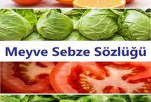 Meyve Sebze Sözlüğü / Meyveler ve sebzeler hakkında merak edilen bir çok sorunun cevabını bu sözlükte bulabilirsiniz