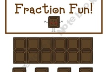Math - 1/2 = .5 = 50% / fractions, decimals, percent