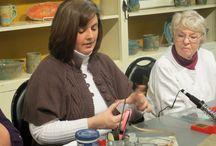 Soldering Decor / Great workshop on Soldering by Jennifer Stone!