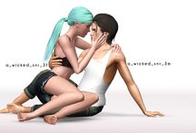 Poses couple - Sims 3
