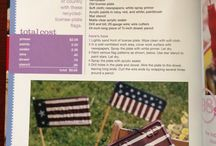 Fourth of July Craft to do with the kids or even your company on that day / Now I know what to do with the license plates I've kept from the vehicles that I have previously owned. / by Nichelle Webster