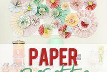 rosetas de papel