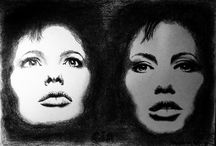 Sand's paintings and drawings /  graphite, charcoal drawings, acrylics, watercolor paintings