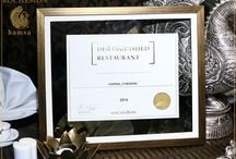 Distinguished Restaurant Award / We take immense pleasure in informing you that ROCHESTON ACCREDITATION INSTITUTE, New York, USA conferred the DISTINGUISHED RESTAURANT honour upon HAMSA. We consider this as a great motivation to offer best of our service to our guests. We sincerely thank all the patrons, well-wishers, food critics, food bloggers and reviewers for your unconditional love and support towards HAMSA. We promise to work harder and achieve several milestones in the near future...