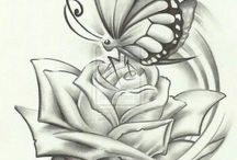 butterfly answer rose draw