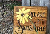 Craft wooden signs.