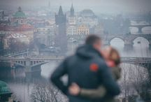 Prague marriage proposal - Christmas proposal
