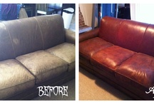 Dying leather couch
