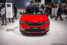 The 66th International Motor Show 2015 in Frankfurt / The highlight of ŠKODA's presence in Frankfurt is the exhibition launch of the new ŠKODA Superb Combi. The new ŠKODA Superb SportLine, a sporty version of the new ŠKODA Superb, makes its world premiere and the ŠKODA Superb GreenLine is also making its debut. The motor show premieres of the ŠKODA Rapid Monte Carlo and the ŠKODA Rapid Spaceback ScoutLine, as well as the sporty ŠKODA Octavia RS 230 and the ŠKODA Fabia R5 Combi show car emphasise the dynamic ambitions of the brand.