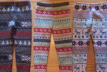 Girls sweater fleece leggings