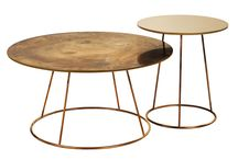 BREEZE COPPER Family of side tables - Swedese - 2013 / Sometimes it is better to work with what you already have, rather than creating something new. Together with Swedese we have given the Breeze table family a new version. The tables are renewed in a sustainable way, reusing the already existing tools. By giving the tables a new material, copper, a completely new expression is achieved. Year Completed: 2013 Design: Monica Förster Design Studio
