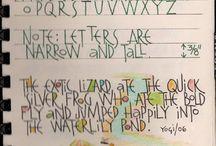 Handletteren Lettertypes