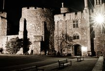 Berkeley Castle Weddings / Berkeley Castle is a fairytale castle wedding venue built with warm pink stone that glows softly in the sunset. It is one of the most the most outstanding examples of Mediaeval domestic architecture in Britain. Find out more about the venue: http://bit.ly/1LtnUcA