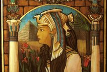 My Egyptian Art / My work water coor on wood!