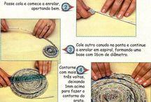 Artesanatos  com papelão e jornal
