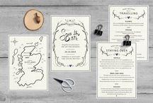Bespoke wedding stationery :-: Folded pixel / Bespoke designs by Folded pixel Design Studio