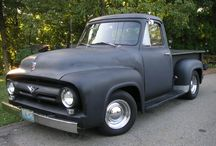 i LOVE....old pickup trucks / I love little baby ducks, old pickup trucks, slow moving trains. And rain. (I'm a Chevy girl, but the love of my life right now...besides my husband...is a 1960 two tone Ford named Murray)